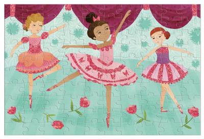 Mudpuppy Ballerina's Glitter 100 Piece Jigsaw Puzzle