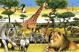 Cobble Hill African Plains - 36 Piece Floor Puzzle