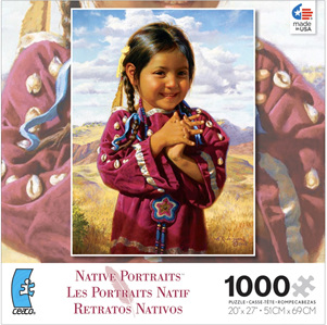 Ceaco USA - 1000 piece 'American Indian Girl'