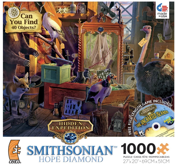 buy online nz at www.puzzlesnz.co.nz 1000 piece jigsaw 'hope diamond'