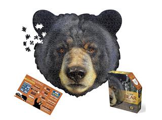 I Am Bear 550 Piece Head Shaped Jigsaw Puzzle