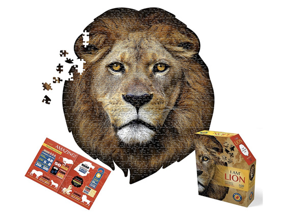 Buy online NZ at www.puzzlesnz.co.nz Maddcapp  I am Lion 550 piece jigsaw puzzle