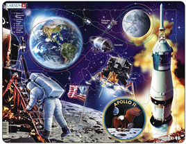 Larsen 59 Piece Tray Jigsaw Puzzle: Apollo 11