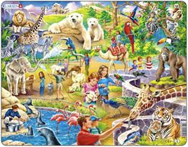 Larsen Tray Jigsaw Puzzle: Zoo