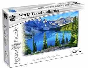 Puzzle Master World Travel Collection 1000 Piece Jigsaw Puzzle: Banff Canada