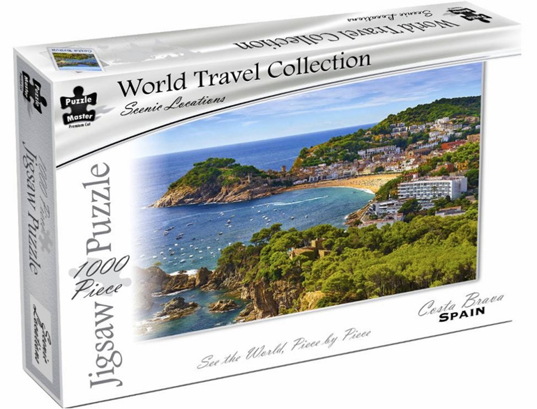 Buy Puzzlemaster 1000 piece jigsaw puzzle Costa Brava at www.puzzlesnz.co.nz