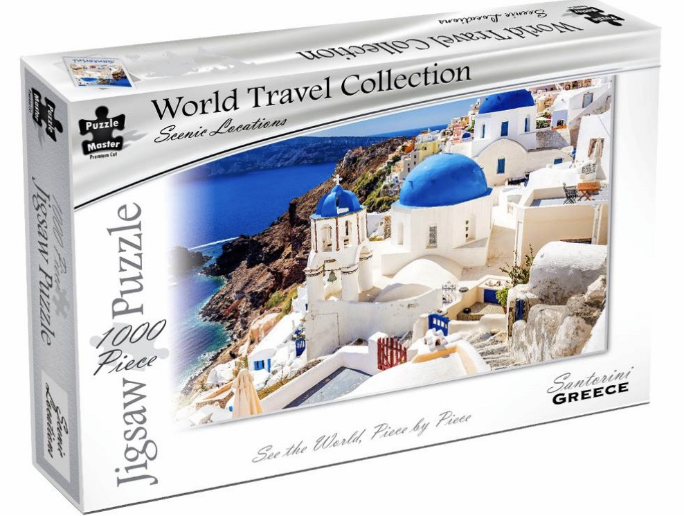 Puzzle Master World Travel Collection 1000 Piece Jigsaw Puzzle: Santorini Greece
