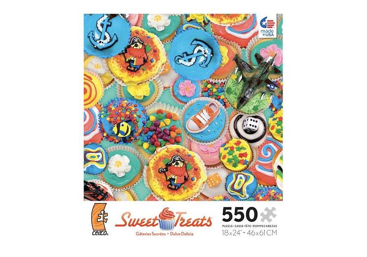 buy sweet treats 550 piece jigsaw online nz at www.puzzlesnz.co.nz