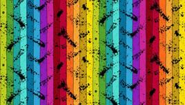 Buzzin Around Stripe Rainbow 29384X