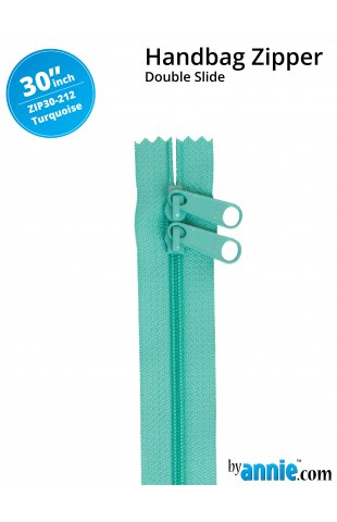 By Annie's Double Slide Zipper Turquoise