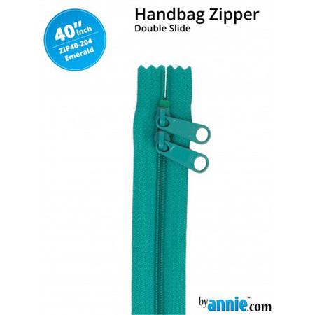 ByAnnie Double Slide Zipper Emerald