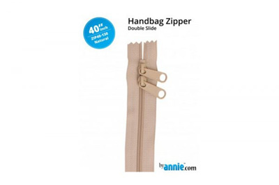 "ByAnnie Double Slide Zipper Natural 40"""