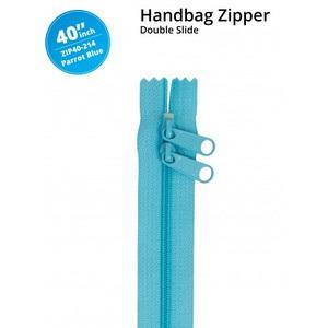 """ByAnnie Double Slide Zipper Parrot Blue 40"""""""