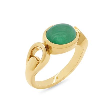 Cabochon Emerald Dress Ring