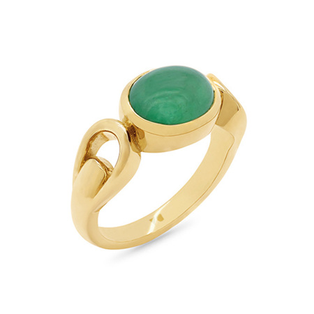 Cabochon Emerald Dress Ring