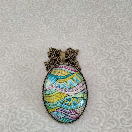 Cabochon Pendants Large - Abstract