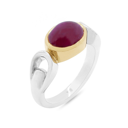 Cabochon Ruby Dress Ring