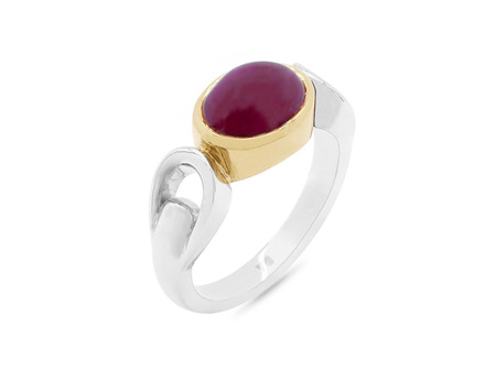 Cabochon Ruby Dress Ring