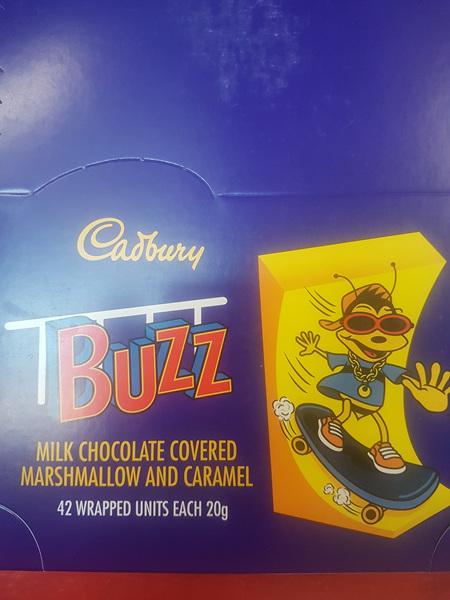 Cadbury Buzz bar wrapped - 42 bars, 20 g each