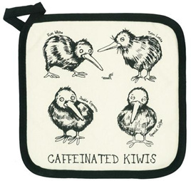 Caffeinated Kiwi Pot Holder