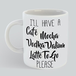 Cafe Moccha Valium Mug