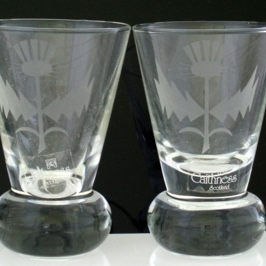 Caithness glass tumblers x 2