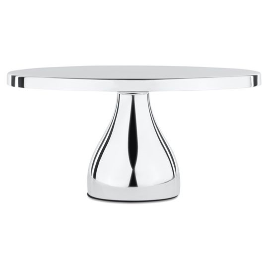 CAKE STAND SILVER 12""