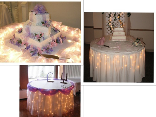 wedding cake lights cake table lights company 8689