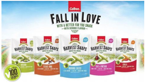 Calbee Harvest Snaps Baked Pea Crisps