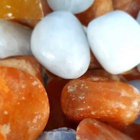 Calcite tumbled