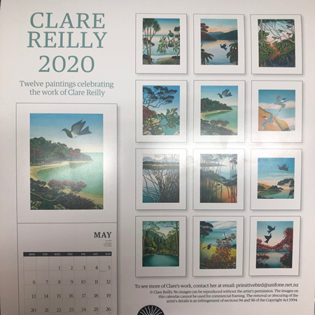 Calendar by Clare Reilly 2020