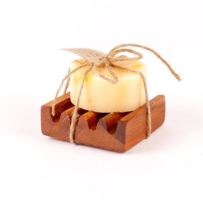 Calendula and Orange Soap on Small Dish