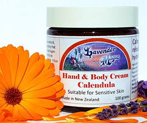 Calendula hand and body cream by Lavender Magic, New Zealand