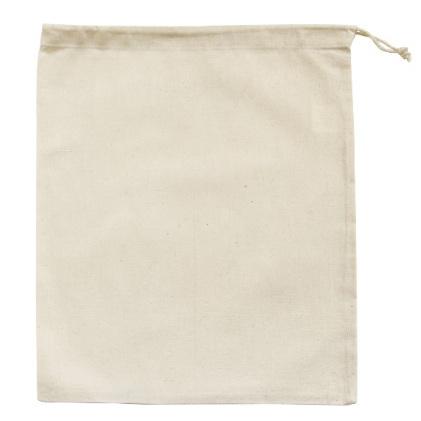 Calico Cotton Drawstring Bag (Large)
