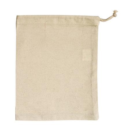Calico Cotton Drawstring Bag (Medium)