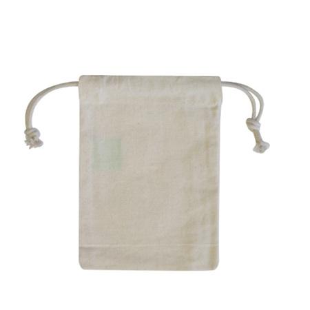 Calico Cotton Drawstring Bag (Small)