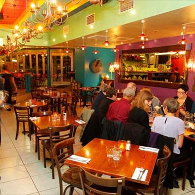 Caliente Restaurant . . . view from bar