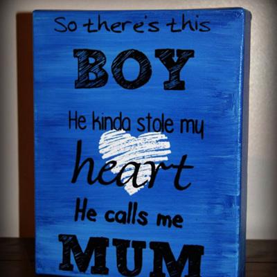 """Calls me Mum 8x10"""""""