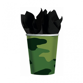 Camo cups - pack of 8