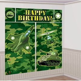 Camo - Happy Birthday Scene Setter Wall Kit