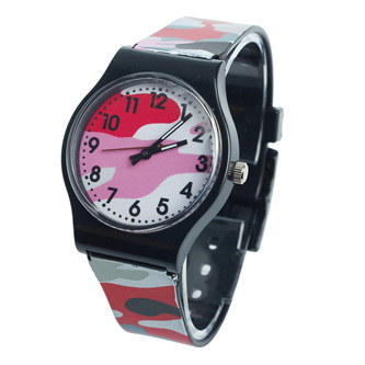 Camo Kids Watch - Red/Pink
