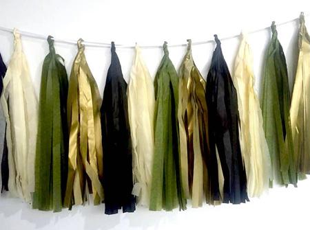 Camo tassel garland