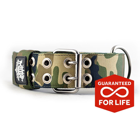 Camo wide nylon supatuff collar by rogue royalty