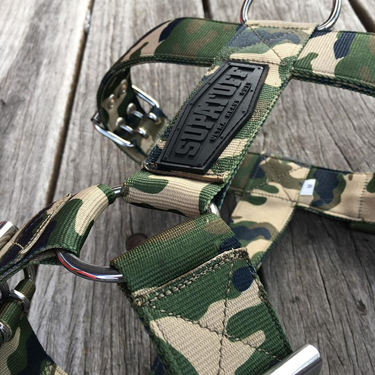 Camo wide nylon supatuff harness by rogue royalty