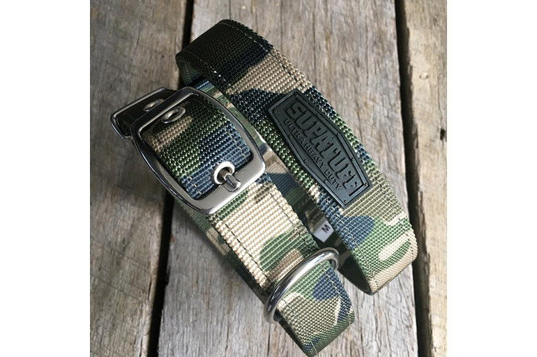 Camouflage Heavy Duty Slimline Dog Collar by Rogue Royalty