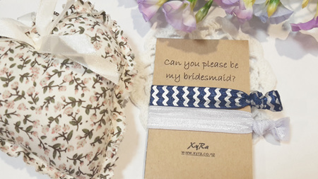 Can you be my bridesmaid hair ties