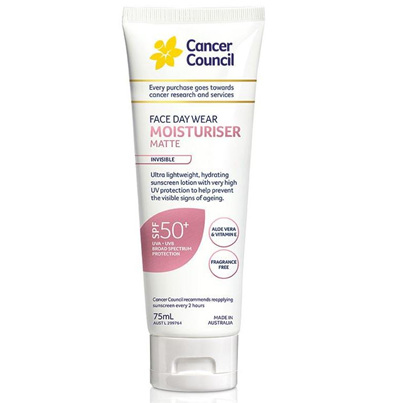 CANCER COUNCIL FACE DAY WEAR MATTE MOISTURISER SPF 50+ 75ML