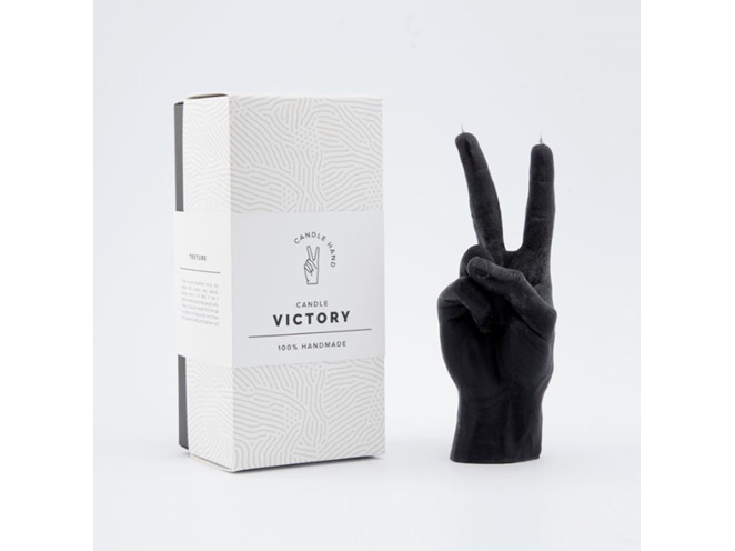 Candle Hand Victory Black