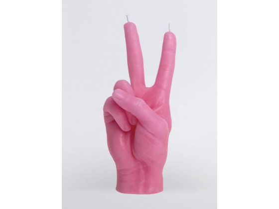 Candle Hand Victory Pink