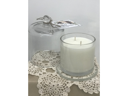 Candle with glass cover - Lychee&Black Tea